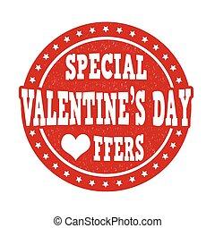 francobollo, offerte, giorno, speciale, valentines