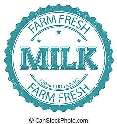 francobollo, organico, latte