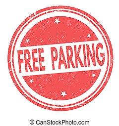 francobollo, parcheggio, o, libero, segno