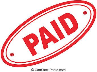francobollo, parola, pagato