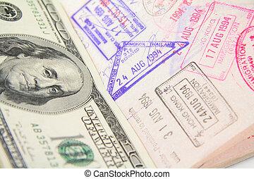 francobollo, passaporto