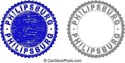 francobollo, philipsburg, textured, grunge, sigilli