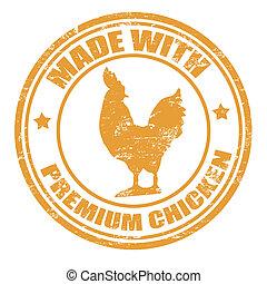 francobollo, pollo, fatto, premio