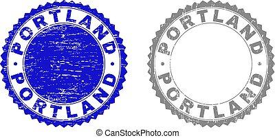 francobollo, portland, textured, grunge, sigilli