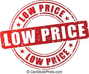 francobollo, prezzo, vettore, basso