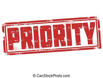 francobollo, priorità