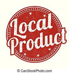 francobollo, prodotto, locale, o, segno