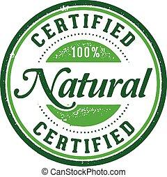 francobollo, prodotto, naturale, certificato