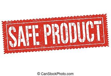 francobollo, prodotto, sicuro, o, segno
