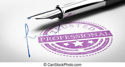 francobollo, professionale, trusted