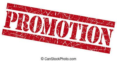 francobollo, promozione, grunge, rosso