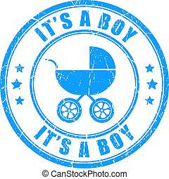 francobollo, ragazzo, relativo