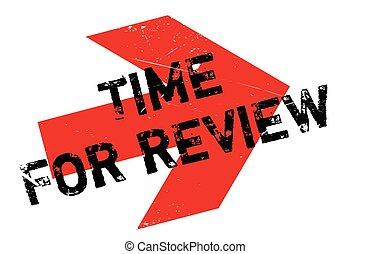 francobollo, revisione, tempo