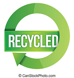 francobollo, riciclato, verde