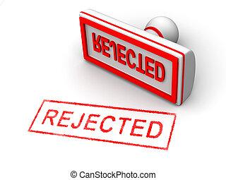 francobollo, rifiutato