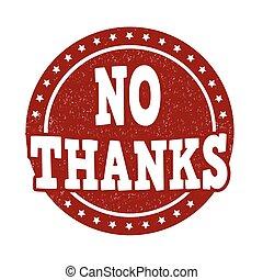 francobollo, ringraziamento, no