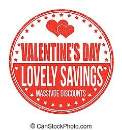 francobollo, risparmi, bello, giorno, valentines
