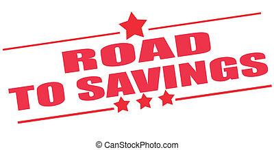 francobollo, risparmi, strada