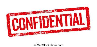 francobollo, -, rosso, confidenziale