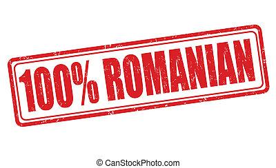francobollo, rumeno, 100 percento