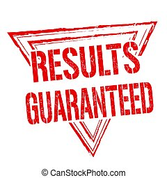 francobollo, segno, guaranteed, o, risultati