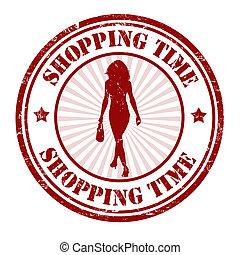 francobollo, shopping, tempo