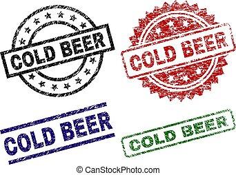 francobollo, sigilli, freddo, textured, birra, danneggiato