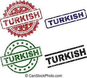 francobollo, sigilli, grunge, textured, turco
