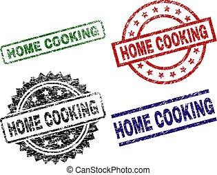 francobollo, sigilli, textured, graffiato, cottura, casa