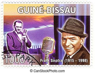 francobollo, sinatra, cantante, famoso, franco