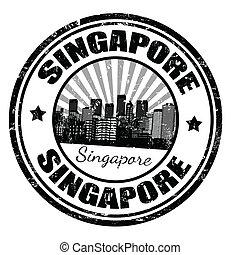 francobollo, singapore