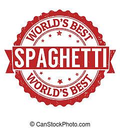 francobollo, spaghetti