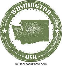 francobollo, stato, washington