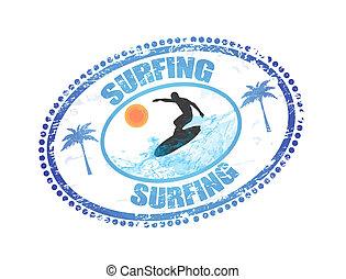 francobollo, surfing