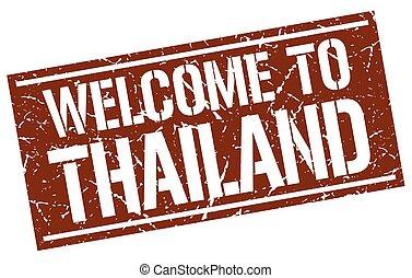 francobollo, tailandia, benvenuto