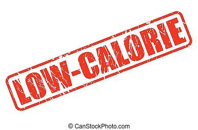 francobollo, testo, caloria, basso, rosso