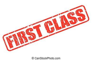 francobollo, testo, classe, rosso, primo