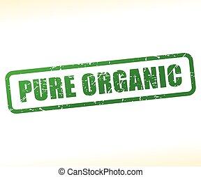 francobollo, testo, organico, puro
