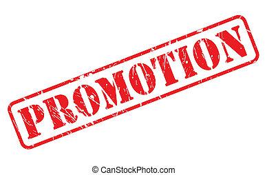 francobollo, testo, promozione, rosso