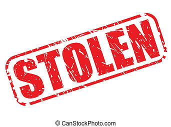 francobollo, testo, rubato, rosso