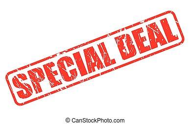 francobollo, testo, speciale, affare, rosso
