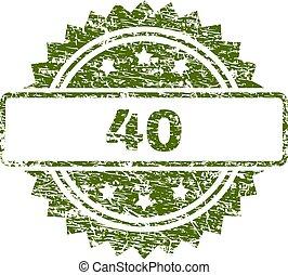 francobollo, textured, grunge, 40, sigillo