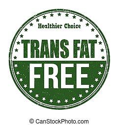 francobollo, trans, grasso, libero
