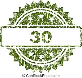 francobollo, trenta, grunge, textured, sigillo