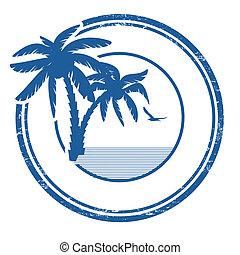 francobollo, tropicale