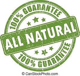 francobollo, tutto, naturale, garanzia