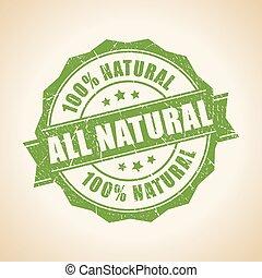 francobollo, tutto, naturale