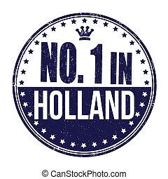 francobollo, uno, olanda, numero