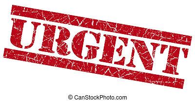francobollo, urgente, grunge, rosso
