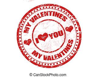 francobollo, valentines, mio